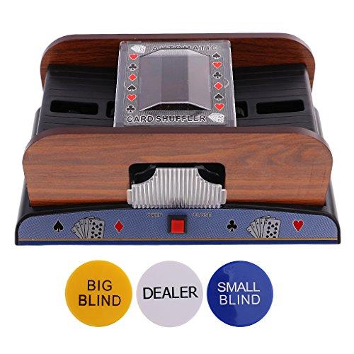 N/A Poker Card Mixer - Battery Operated + Poker Buttons Set - Dealer / Big Blind / Small Blind