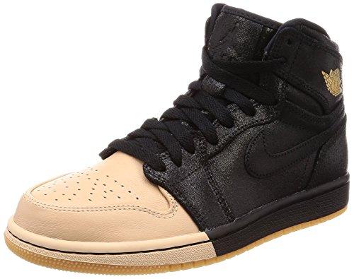 Nike Wmns Air Jordan 1 Ret Hi Prem, Scarpe da Fitness Donna, Multicolore (Black/Metallic Gold-007), 39 EU