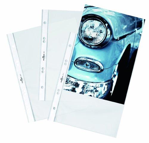 Durable 265119 Prospekthülle (oben, DIN A5, PP, glänzend, 0,06 mm) glasklar