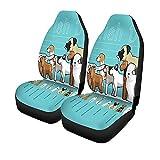 Beth-D Set für Autositze, englisches Terrier, für Hunde, Größe Vergleich, Cartoon, Airedale für LKWs, Universal, automatische Vordersitze, 14 – 17 Zoll