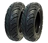 MMG Tire Set Front 120/90-10, Rear 130/90-10 Street Tread for Honda Kymco Eton Hyosung 10 inches Rim (P116)