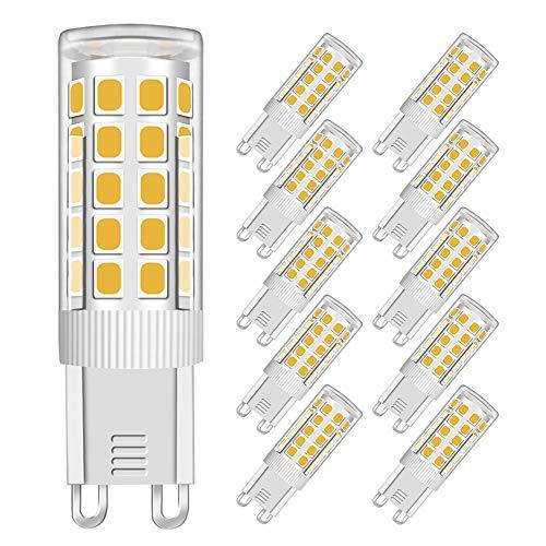 MENTA G9 Lampadina LED 5W (Equivalente a 40W Luce Bianca Fredda, Lampadine) Bagliore Romantico Temperatura 330Lm 6000K AC 220-240V Angolo del facio luminoso di 360 gradi CRI>80, Set da 5