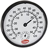 Cooper-Atkins 212-150-8 Bi-Metal Wall Mount Thermometer with Plastic Lens, Humidity Meter, -40/50?C Temperature Range by Cooper-Atkins Corporation