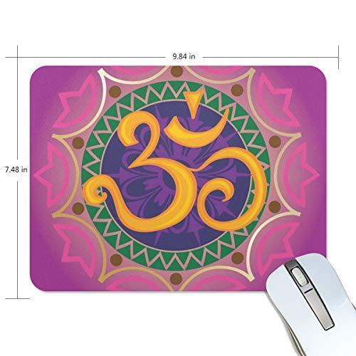 LUPINZ Chakra Ohm mit Mandala-Muster, Gaming-Mauspad, leistungsstarkes Mauspad, optimiert für Gaming-Sensoren, entworfen für maximale Kontrolle