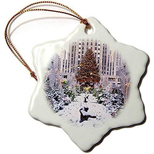 Pattebom Weihnachtsbaum, Rockefeller Center, Manhattan, New York, USA, Keramik, Weihnachtsschmuck 2018, Neuheit für Weihnachtsdekoration, Baumdekoration, 3