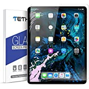 """TETHYS Glass Screen Protector Designed for iPad Pro 12.9-inch 2018 ONLY [1 Pack] Durable HD Tempered Glass for Apple iPad Pro 12.9"""" Inch 1-Pack"""