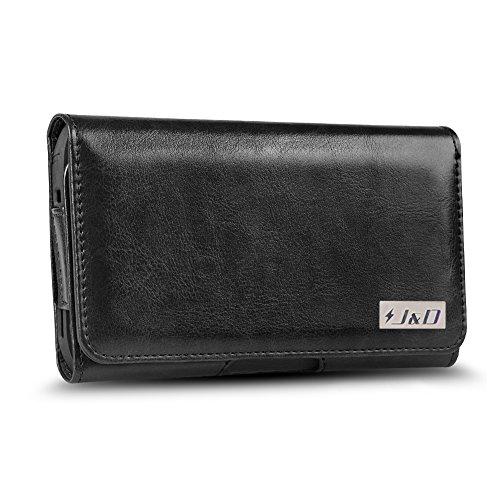 JundD Kompatibel für Sony Xperia XA2/XA1/Mi Play/Redmi 7A/Honor 8S/8S 2020/LG K40/K30 2019/K20/Nokia 2.2/HTC Desire 19/Google Pixel 4 Holster, PU-Leder Tasche mit Gürtelclip - Für Robusten Hülle