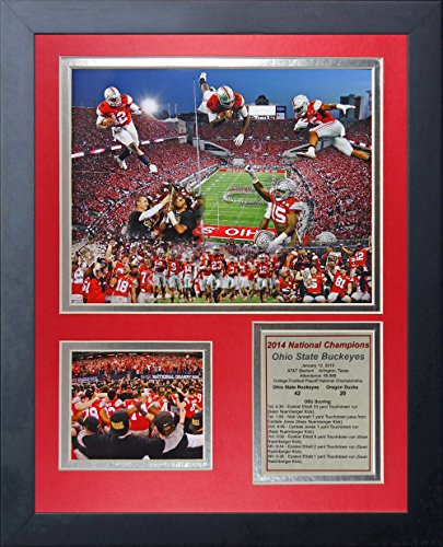 Ohio State Buckeyes NCAA Double Matted 8x10 Photograph 2009 Rose Bowl Champions Collage