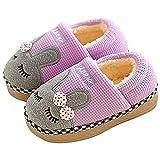 SITAILE Jungen Mädchen Winter Pantoffeln Slippers Schuhe mit Plüsch gefüttert