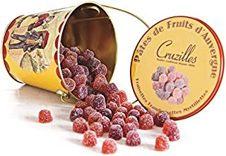 Cruzilles, Pâtes de Fruits d'Auvergne - Assorted French Fruit Jelly Candies fruits jellies in Metal Pail
