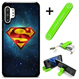 Hybrid Rugged Hard Cover Case Compatible with Galaxy Note 10 - Superman Universe (with Free Phone Stand Gift!)