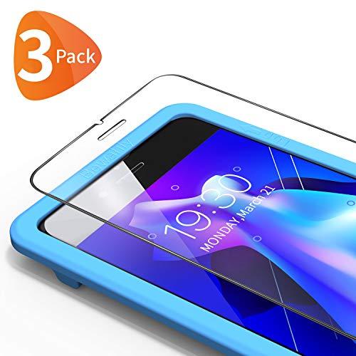Bewahly Panzerglas Schutzfolie für iPhone 6s / 6 [3 Stück], 9H Härte Panzerglasfolie 0.25mm Ultra Dünn Displayschutzfolie mit Installation Werkzeug für iPhone 6s / iPhone 6 (4,7 Zoll)