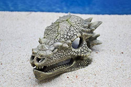 Amtra Drachen Schädel Aquarium Dekoration Miniatur Dekofigur Aquarien Zubehör Fische Garnelen Terrarium