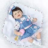 TOYSBBS Realiste Reborn Bébé Fille Poupons de Silicone Poupee Reborn Babys Dolls Bouche magnétique Enfants Cadeaux Jouet 16 Pouce 42CM EN71