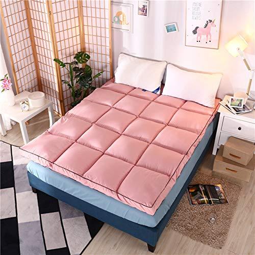 ZAIPP Dick Pillow-top Komfort Matratze Topper,weiches Hypoallergene Bett Matratze Tempurpedisch Atmungsaktive Kaltschaummatratze-rosa 90x200cm(35x79inch)