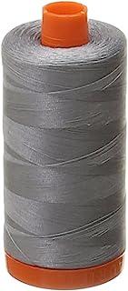 Aurifil Mako Cotton 50wt Thread Solid Grey 1422 Yard