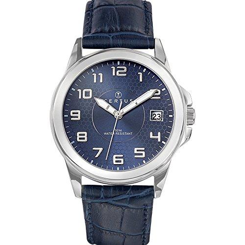 Certus Herren Analog Quarz Uhr mit Leder Armband 610725