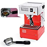 Quick Mill 0820 Rot Espressomaschine Made in Italy ,Siebträger Espressomaschine Special Special mit...
