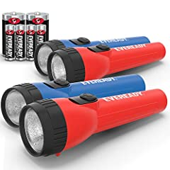 BRIGHT LED LIGHT LED flashlight produces bright white light for a variety of tasks around the house EASY TO USE the ribbed casing gives you a secure, easy grip; Easy-to-operate, no-hassle switch. Great flashlights for kids; Very easy for all ages to ...