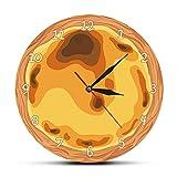 Tbqevc Diseño portugués Huevo Tarta Reloj de Pared té Bocadillo Pastel Postre pastelería Cocina Gourmet decoración 30X30 CM