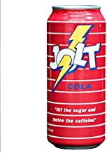 Jolt Cola Carbonated Energy Drink Original Recipe (Real Sugar) 16 Ounce, 12 Count