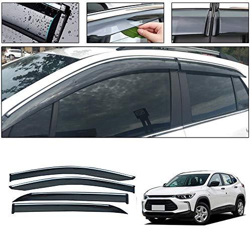 saitake Windabweiser Für Chevrolet TRAX 2014-2018 4PCS Autofenster Visier Sonne Regen Rauchabzug Schatten Klebeband Außenvisiere