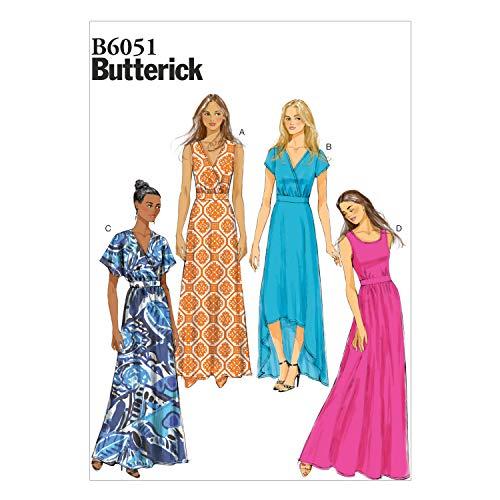 Butterick Patterns 6051B5 - Patrones para Vestidos de Mujer (Tallas 36 a 44)