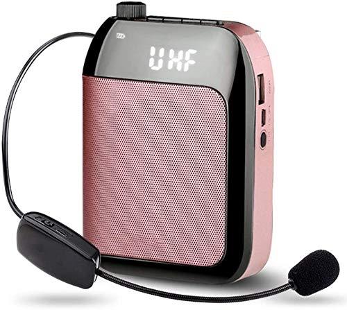 ZOUSHUAIDEDIAN Amplificador de voz portátil Auricular con micrófono for maestros aula, altavoces, instructores de yoga, Directores de gimnasio, entrenadores, Presentaciones, personas mayores y servici