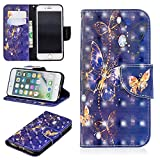 iPhone 8 Case, iPhone 7 Case, UZER 3D Premium PU Leather Shockproof Kickstand Folio Wallet Case with Cash/Card Slots Durable Magnetic Plants and Animals Series Book Case for iPhone 8/ iPhone 7 4.7'
