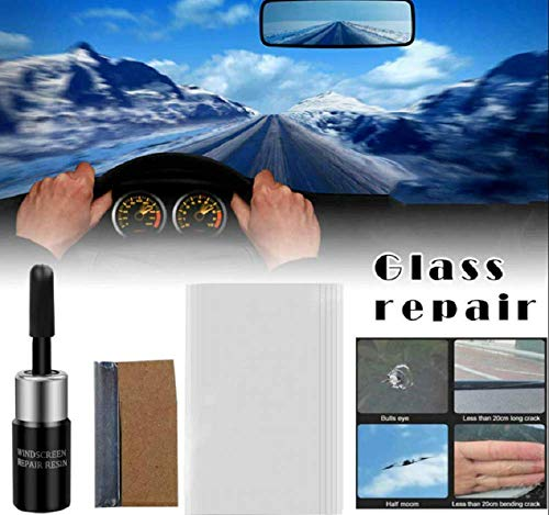 2PCS Crackflix Windshield Repair Agent,Automotive Glass Nano Repair Fluid,Car Windscreen Repair Resin Cracked Glass Repair Kit