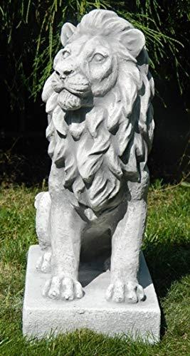 Skulptur Gartenfigur Beton Figur Löwe rechts blickend H 35 cm Dekofigur und Gartenskulptur