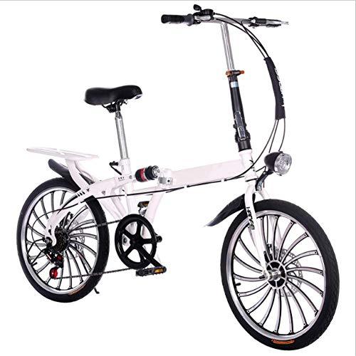 LYXQQ City Bike, vouwfiets Compact opvouwbare fiets Unisex vouwfiets Mini vouwfiets klein wiel Diameter vouwfiets, 20 Inch wielen