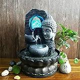 YMXX® Buda Waterscape Resina Feng Shui Decoración Fuente interior Artesanía Decoración de oficina Muebles de escritorio para el hogar Regalo de boda