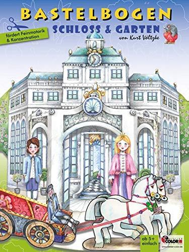 Schloss & Garten Bastelbogen: 3d bespielbare Schlosskulisse mit Garten zum Ausschneiden und Basteln