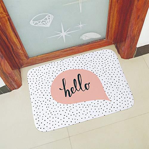 ZXCVWY anti-slip mat voor ingang deur voor thuis, buitendeur deurmatten voordeur mat dikke flanel