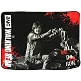 walking dead chopper - Walking Dead Daryl with Chopper (All We Can Do is Run) Fleece Blanket
