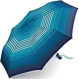 Esprit Easymatic Light Gradient Stripes - Paraguas de Bolsillo Azul Azul 97 cm