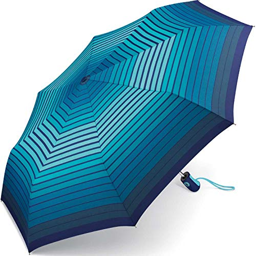 Esprit Taschenschirm Easymatic Light Gradient Stripes - Blue