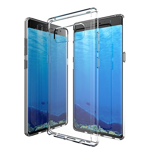GPEL Designed for Galaxy Note 8 Case GPEL [EverPure Hybrid] Protective Clear Hybrid Case. 6H Scratch Resistant Ultra Clear Hard Acrylic Back and Rubberized Edges for Better Grip