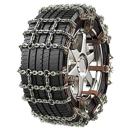 KMNN Cadena de Nieve para neumáticos de Invierno, Cadena para Romper el Hielo del automóvil, automóvil, ATV, Emergencia, Material de Acero al manganeso,205mm,8 Piece