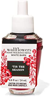 White Barn Candle Company Bath and Body Works Wall Flowers Home Fragrance Refill .8 fl oz - 'Tis The Season (Red Delicious...