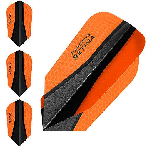 HARROWS retina-x Dart Flights–5sets (15)–100micron Extra Strong–Slim–Orange