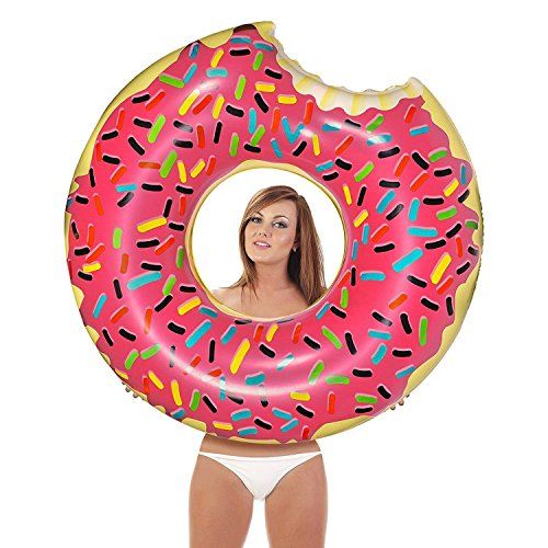 Giant Bean Bag Chairs Inflatables Giant Pool Floats Pump Included (Donut) Toy