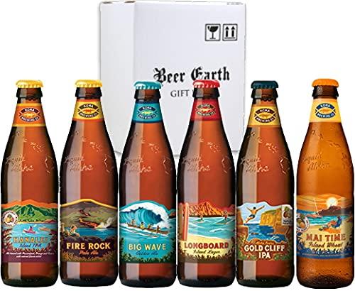 ハワイ コナビール6種類 6本飲み比べセット ハワイNo1 クラフトビール 詰め合わせ【ビッグウェーブ ロングボード ファイヤーロック ハナレイIPA】
