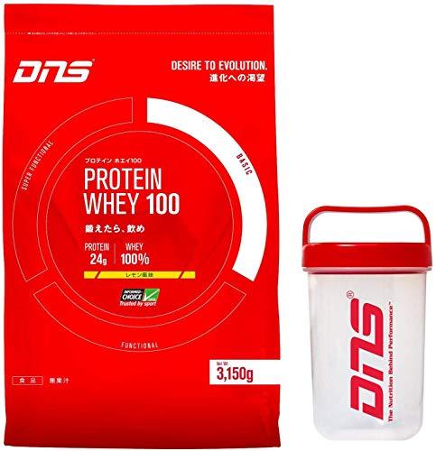 DNS プロテイン ホエイ 100 3kg + シェーカー セット [ヘルス&ダイエット食品] (レモン風味)