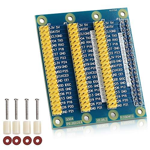 Bewinner Multifunktions-GPIO-Erweiterungskarte Erweiterung um 1 bis 3 Ports für Raspberry Pi 2-40-poliges Kartenmodul, Raspberry Pi GPIO-Adapter - Hohe Qualität, Projekt einfacher Machen
