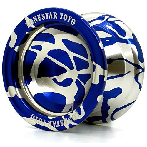 Supreme Yoyo Responsive Aluminum Yoyo with Extra Strings - Sidekick Lonestar Yoyo Series (Blue & Silver)