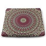 Houity Bunte Ethno-Musterhintergrund Arabesken Ornament 100% Polyester quadratisches Kissen mit...