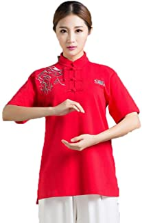 fwadu Tai Chi odzież dla kobiet mężczyzn oddychająca haft tai chi mundurek kung fu ubrania sztuki walki grupa występ odzie...