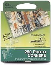 Pioneer PCR-1 Photo Corners Self Adhesive, Clear, 250-Pack